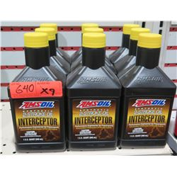 Qty 9 Quarts AMSoil Synthetic 2 Stroke Oil Interceptors