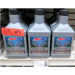 Qty 9 Quarts AMSoil SAE 15W-40 Synthetic Diesel Oil