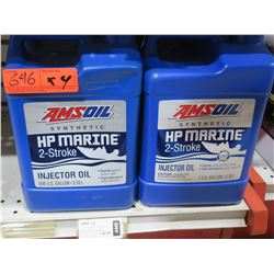 Qty 4 Gallons AMSoil Synthetic HP Marine 2 Stroke Injector Oil