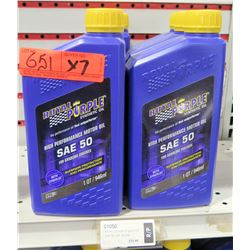 Qty 7 Quarts Royal Purple SAE50 Synthetic Motor Oil