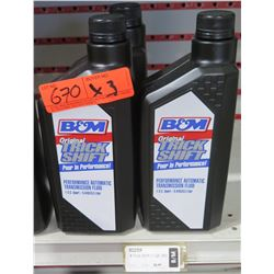 Qty 3 Quarts B&M Trick Shift Performance Automatic Transmission Fluid