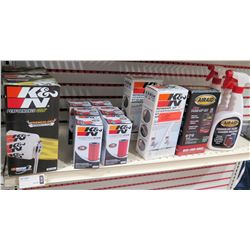 Multiple K&N Oil Filters & Refresher Kit, AirAid Tune Up Kit & Cleaning Solution