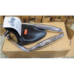 Harley Davidson Corbin FG-236 Seat  for 84-99 Softail & Supertrapp Mufflers w/downpipe (used)