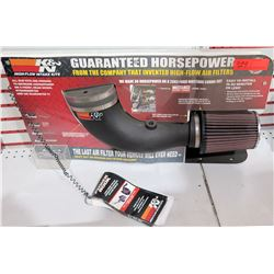 K&N Guaranteed Horsepower High Flow Air Filter Display – Filter removable