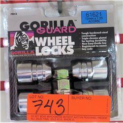 1 pack of 4Gorilla Wheel Locks 61621 12mm x1.25 Acorn