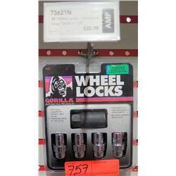 1 pack of 4 Gorilla Wheel Locks 73621N 12mm x1.25 Standard Mag