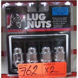 2 Packs of 4 Gorilla Lug Nuts 91137HT 12mm x 1.50 Acorn Heat Treated