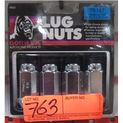 1 pack of 4 Gorilla Lug Nuts 76147 14mm x 1.50 Duplex Acorn