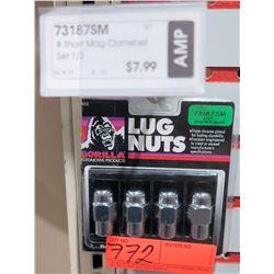 "1 pack of 4 Gorilla Lug Nuts 73187SM 1/2"" Short Mag"