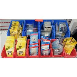 Qty 10 Bins Buss Fuses, Turn Signal Lights, Ring Terminals, etc