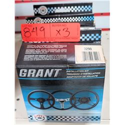 Qty 3 Grant 3290 Standard Steering Wheel Installation Kit-Ford/Lincoln