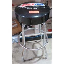 AMSoil Logo Shop Stool 4 Metal Legs w/ Black Seat