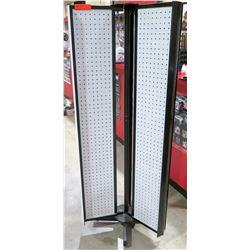 Three Panel Pegboard Display w/ Pedestal Base
