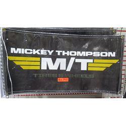 Qty 2 Black Mickey Thompson M/T Tires & Wheels Logo Banner