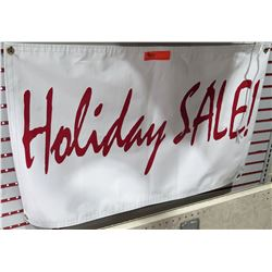 Qty 2 White & Red Holiday SALE! Banner
