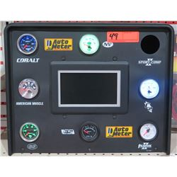 Auto Meter Commercial Display w/ Cobalt Boost Gauge & Misc Oil Gauges