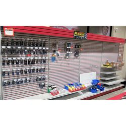 "Display Shelf ONLY - Adjustable Pegboard w/ Metal Shelves 194"" x 90"""