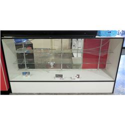 "Display Counter ONLY - Glass Case w/ Adjustable Shelves 18"" x 38"" x 79"""