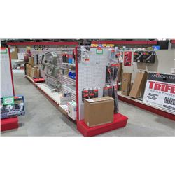 "Display Shelf ONLY - Adjustable Pegboard w/ Metal Shelves 60"" x 312"""