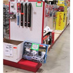 "Display Shelf ONLY - Adjustable Pegboard w/ Metal Shelves 60"" x 348"""