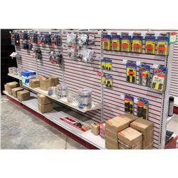 "Display Shelf ONLY - Adjustable Pegboard w/ Metal Shelves 60"" x 144"""