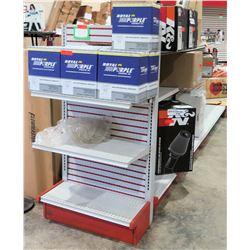 "Display Shelf ONLY - Adjustable Pegboard w/ Metal Shelves 60"" x 156"""