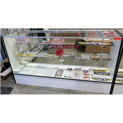 "Display Counter ONLY - Glass Case w/ Adjustable Shelves 18"" x 38"" x 70"""