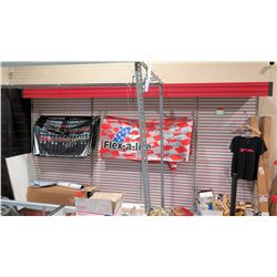"Display Shelf ONLY - Adjustable Pegboard w/ Metal Shelves 156"" x 90"""