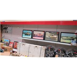 "Display Shelf ONLY - Adjustable Pegboard w/ Metal Shelves 240"" x 90"""