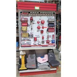 "Display Shelf ONLY - Adjustable Pegboard w/ Metal Shelves  90"" x 48"""