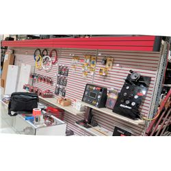 "Display Shelf ONLY - Adjustable Pegboard w/ Metal Shelves 240"" x 90"""