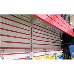 "Display Shelf ONLY - Adjustable Pegboard w/ Metal Shelves  90"" x 160"""