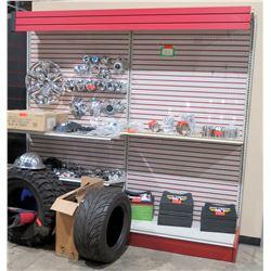 "Display Shelf ONLY - Adjustable Pegboard w/ Metal Shelves  90"" x 96"""