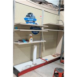 "Display Shelf ONLY - Adjustable Pegboard w/ Metal Shelves 90"" x 98"""