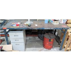 "Metal Work Shop Table 72"" x 43"" x 34"""