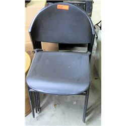 Qty 5 Black Stacking Stationary Chairs