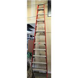 15 ft Red & Aluminum Multi-Purpose Shop Step Ladder