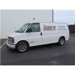 2000 Chevy 2500 Cargo Van, Lic 362TPN, (Runs & Drives - See Video)