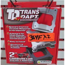Qty 2 Trans Dapt 2107 Carb Adaptor