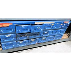 Blue Metal Part Storage Cabinet with adjustable compartments