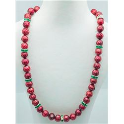 Silver Freshwater Pearl Cubic Zirconia Necklace (~weight 43g), Insurance Value $403 (Estimated Selli