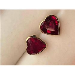 14K Yellow Gold Ruby Earrings (~weight 1.46g), Appraised Retail $1163 (Estimated Selling Price from