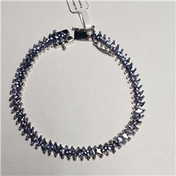 Silver Tanzanite(8.7ct) Bracelet, Suggested Retail Value $1000 (Estimated Selling Price from $150 to