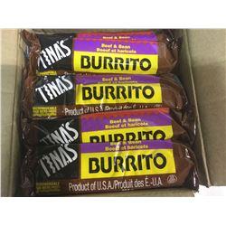 Case of Tina's Beef and Bean Burritos