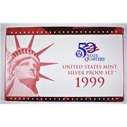 1999 U.S. SILVER PROOF SET ORIG PACKAGING