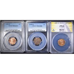 GRADED CENT LOT: