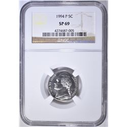 1994-P JEFFERSON NICKEL  NGC SP-69