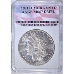 1881-O MORGAN DOLLAR  ANGS SUPERB GEM DMPL