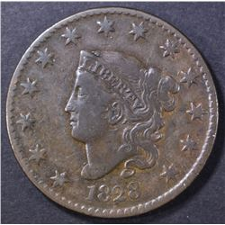 1828 LARGE CENT  VF/XF