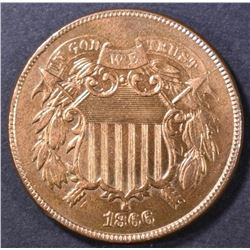 1866 2-CENT PIECE  CH BU  RED